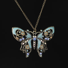 VINTAGE HOLLOW BUTTERFLY NECKLACE