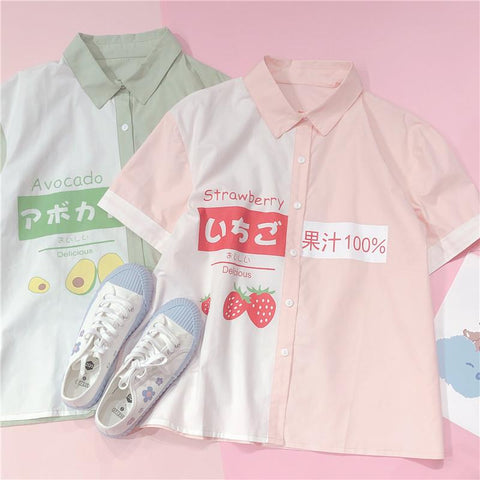 JAPANESE STRAWBERRY/AVOCADO SWEET SHIRT