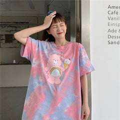 ICE CREAM BEAR TIE-DYE PRINT TEE