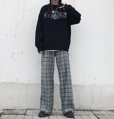 RETRO PLAID LOOSE PANTS