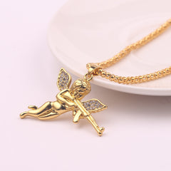 MACHINE GUN ANGEL PENDANT NECKLACE