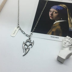 FLAME PENDANT NECKLACE