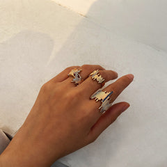 IRREGULAR DIAMOND RING SET