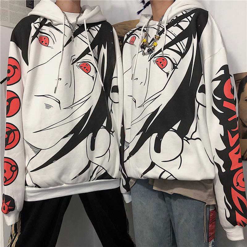 DARK CARTOON ANIME NARUTO PRINT HOODIE
