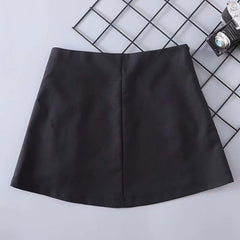 SIDE PIN A-LINE ZIPPER SKIRT