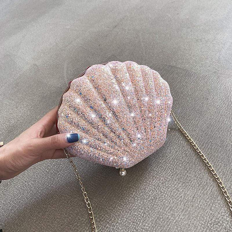 SEQUIN MINI SHELL BAG