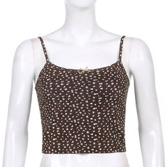 BROWN FLORAL CAMISOLE