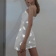 REFLECTIVE BUTTERFLY STRAP DRESS