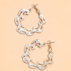 SILVER FLAME WREATH EARRINGS