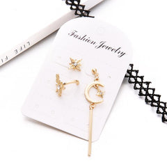 STARS MOON MICRO DIAMOND EARRINGS