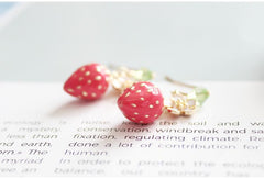 STRAWBERRY FLOWER EARRINGS 202101