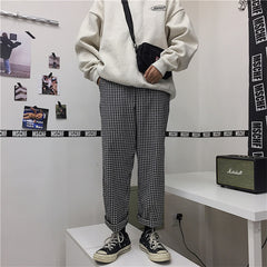 RETRO PLAID CASUAL PANTS
