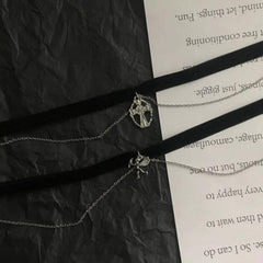 ANGEL CUPID CROSS CHOKER (2 PCS)