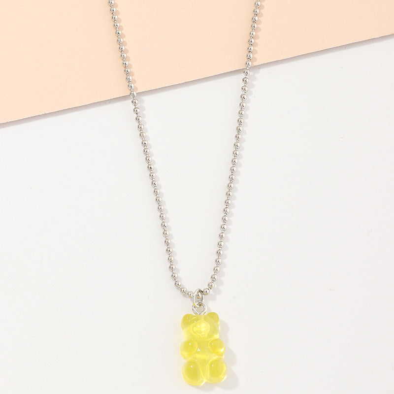 CANDY BEAR PENDANT NECKLACE
