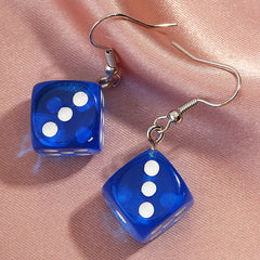 COLORFUL DICE EARRINGS