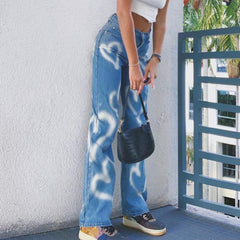 LOVE GRAFFITI STRAIGHT JEANS