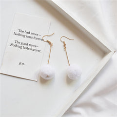 CUTE PLUSH BALL EARRINGS