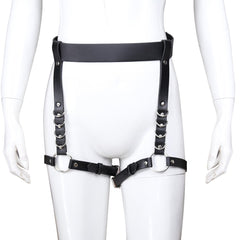 PUNK PU LEATHER BELT LEG LOOP