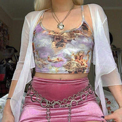 ANGEL PRINT CROP TOP