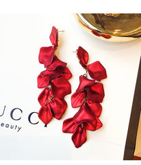ROSE PETALS LONG EARRINGS
