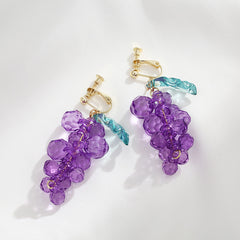 PURPLE GRAPE EARRINGS
