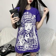 DARK STREET PRINT LOOSE T-SHIRT