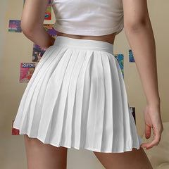 MOON EMBROIDERED PLEATED SKIRT