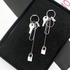 PIN LOCK EARRINGS