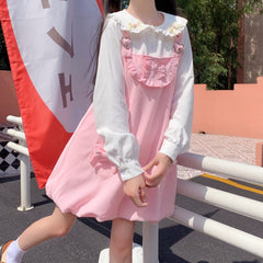 BUNNY EAR SHIRT OR HEART BOW STRAP DRESS
