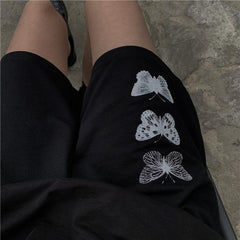 THREE BUTTERFLY PRINT SHORTS