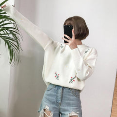 FLOWERY KNITTED