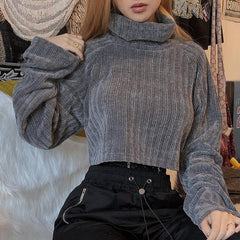 STREET SHOT TURTLENECK CASUAL SWEATER