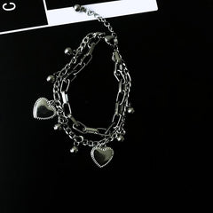 DOUBLE LAYERED HEART BRACELET