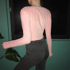 PINK STRAWBERRY LONG SLEEVE TOP