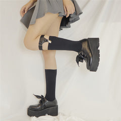 JK LACE-UP PLATFORM SHOES  (4.5-8)