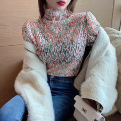 FLORAL LONG SLEEVE LACE SHIRT