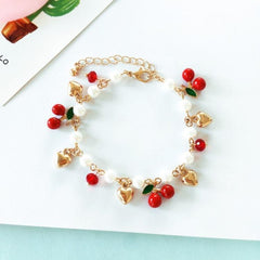 JAPANESE CHERRY AND PEARL BRACELET