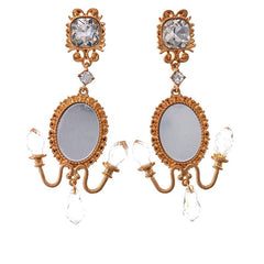 ANTIQUE LUXURY MIRROR EARRINGS