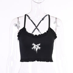 GOTHIC FIVE-POINTED STAR PRINT CAMISOLE