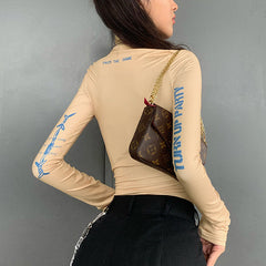FASHION HIGH NECK LONG SLEEVE BODYSUIT