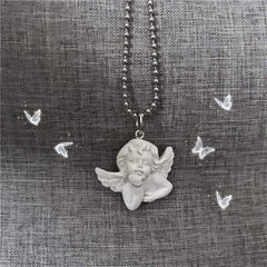 VINTAGE CUPID ANGEL NECKLACE
