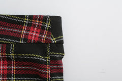 RED AND BLACK CHECKED CASUAL PANTS