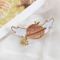 FANTASY WINGS PLANET BROOCH (SET/2PCS)