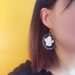 CUPID ANGEL ASYMMETRIC EARRINGS(2pairs)