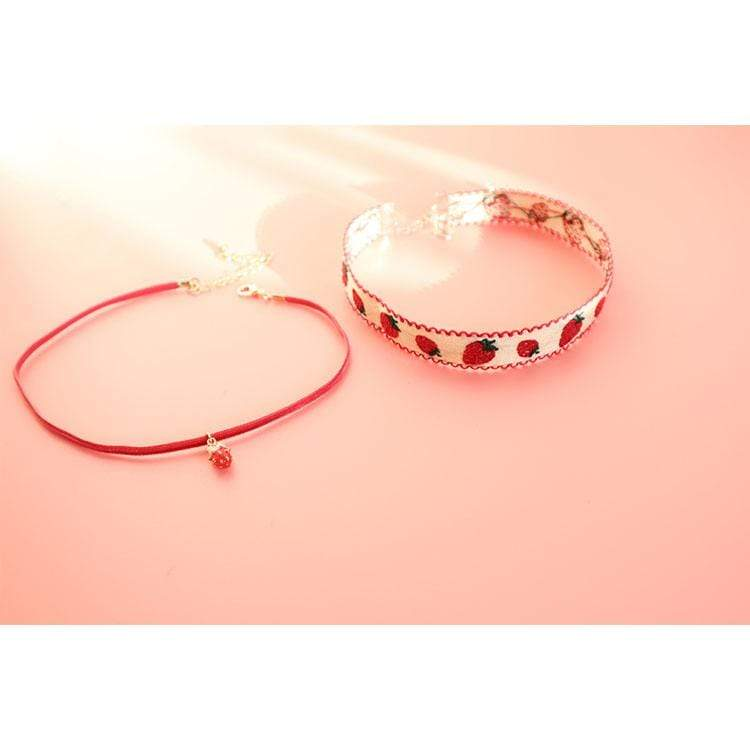 STRAWBERRY CHOKER(2 PCS)