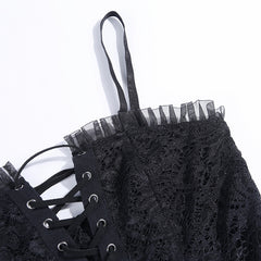 GOTHIC LACE TIE WAIST DRESS