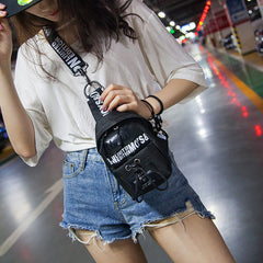 LETTER PRINT FASHION CHEST BAG