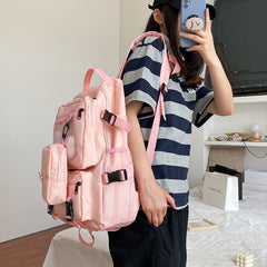 PLUSH RABBIT CARGO CANVAS BACKPACK