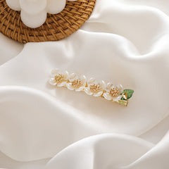 GREEN LEAF FLOWER HAIR CLIP (3 PCS)