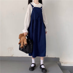 JAPANESE STRAP DRESS WITH BAG